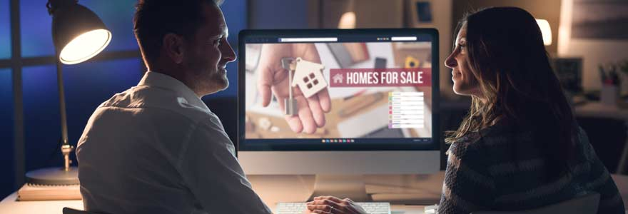 affichage numerique agence immobilière